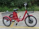 трицикл безщеточного мотора эпицентра деятельности 350With500W электрический, самокат Trike 3 колес электрический с педалью (TC-017N)