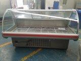 Demonstração de tórax 2,0 m frigorífico de supermercado e comida do restaurante Exibir