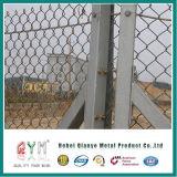 Da cerca revestida da ligação Chain do PVC cerca do jardim do engranzamento de fio/ligação Chain