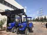 정면 로더를 가진 55HP 4WD 농장 트랙터