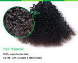 アフリカ100%の加工されていないブラジルのカーリーヘアーのバージンの人間の毛髪のよこ糸