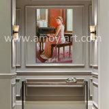 Pitture a olio piacevoli della signora Plays Piano Figurative per la decorazione domestica