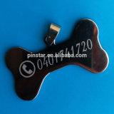 Etiqueta de identificação de identificação personalizada Gravação gratuita Cópia de osso Dog Cat Puppy Pet Tags