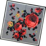 Sciarpa della signora Fashion Printed Square Silk (HC007-1)