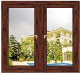 De hoogste Kwaliteit paste het Rode Houten Openslaand raam van het Aluminium van de Kleur (aan acw-015)