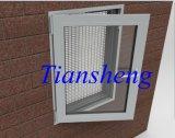 Fenêtre en aluminium enduite de tissu pour rideaux de poudre