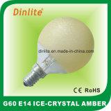 G60氷の水晶こはく色の白熱球根