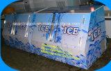 デジタル温度調節器が付いている直立した袋に入れられた氷の収納用の箱