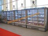 Refrigeratore dell'aria aperta del supermercato con il portello di vetro