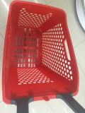 Cestino di acquisto di plastica del supermercato di lusso con le rotelle