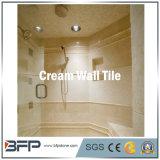 Mattonelle di marmo della parete della Cina nel colore crema per i progetti di costruzione del pavimento/parete/facciata