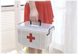 Scomparto bianco della medicina della scatola di plastica della famiglia delle maniglie della serratura