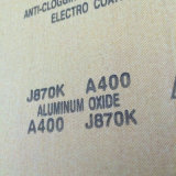 태워서 석회로 만들어진 알루미늄 산화물 거친 피복 J870k 스테인리스 닦는 400#