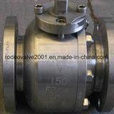 La Partir-Carrocería forjó la vávula de bola industrial flotante funcionada el manual de acero