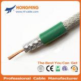 La protección estándar de telecomunicaciones de 75 ohmios RF CATV Cable coaxial RG6
