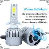 7600lm自動LEDのヘッドライトおよびLED作業ライト(H1 H3 H4 H7 H8 H9 H11 H13 9004 9005 9006 9007)が付いているLEDの機密保護車ライト