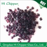 Reciclado Triturado Terrazzo Dark Purple Glass Chips Decoration