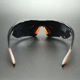 Type sportif lunettes de soleil (SG115) de miroir de protection UV argentée de lentille