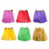 Многоцветные Hawaiian шелк фо цветы Хуле травы красоты юбка для купальный костюм, событий, дни рождения, Пляж праздник танца группа украшения одежды детей взрослых