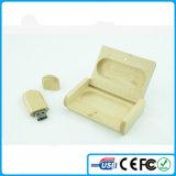Китай рекламных деревянной ручкой USB накопитель с индивидуального логотипа