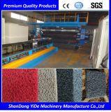 PVC 두 배 색깔에 의하여 살포되는 코일 지면과 차 발 양탄자 플라스틱 압출기
