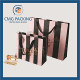 Saco de embalagem cosmético impresso com listras personalizadas bonitas (CMG-MAIO-033)