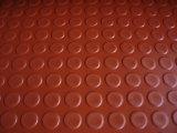 Feuille en caoutchouc de bouton rond noir, feuille en caoutchouc de goujon pour parqueter Rolls