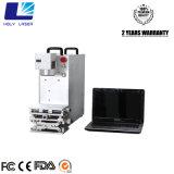 máquina de la marca del laser de la fibra 20W para la marca blanco y negro