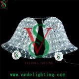 Het Motief van de LEIDENE Klok van Kerstmis steekt 3D Lichten van het Beeldhouwwerk van het Motief aan