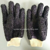 Частицы Non-Slip покрытие водонепроницаемым ПВХ рабочие перчатки