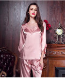 """Pijamas """"sexy"""" da seda das mulheres do Bathrobe da roupa de noite da roupa interior"""