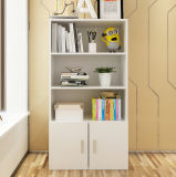 Bibliothèque en bois simple avec des portes