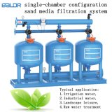 Equipos de filtración de agua /cámara única arena de las configuraciones de máquina de filtración de los medios de comunicación /Unidades del cilindro de filtro de arena de cuarzo