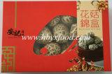 Fungo di Shiitake asciutto del fiore bianco con differenti formati