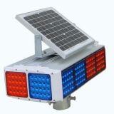Bernsteinfarbiges Verkehrs-Warnleuchten-blinkendes Solarlicht