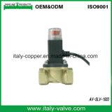 Elettrovalvola a solenoide d'ottone collaudata 100% superiore del gas naturale