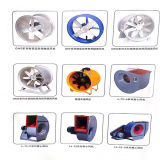 Ventilador de Fluxo Axial Explosion-Proof Yuton com lâminas de alumínio ajustável