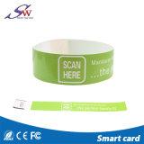 Einmaliger programmierbarer DESFire 4K RFID PapierWristband