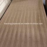 AA Grade línea recta de fantasía el contrachapado de madera de teca