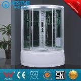 Aquacubic Canto completa / vapor de duche com vidro temperado (BZ-804-1 Deslizante)