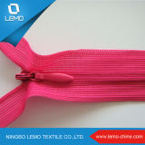 No. 3 Invisible Zipper Poly Ruban Couleur rose Normal Slider for Garments