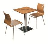 ステンレス製のSteel Fast Food TableおよびRestaurantのためのChair