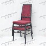 Salle de banquet de l'aluminium Chaire de couleur marron Yc-Zl62