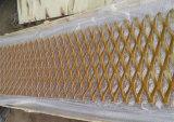 中国の工場PVCはアルミニウムによって拡大された金属の網シートに塗った