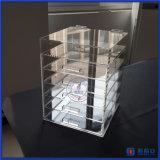 Boîtes de présentation cosmétiques de mémoire d'organisateur acrylique de renivellement