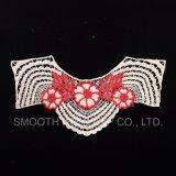 Collare floreale del merletto della maglia del ricamo caldo di vendita per i mestieri di cucito