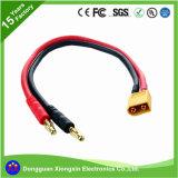 UL-Fabrik passen Hochtemperaturdes silikon-Kabel-Ec3 Ec5 geflochtenen elektrischen Leistungs-Isolierdraht Bananen-Verbinder-Adapter Belüftung-TPE-XLPE Fiberglas an