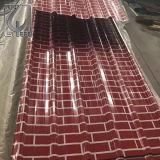 Pintura de cor quente chapas nervuradas revestimentos galvanizados médios