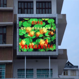 Pantalla P10 exterior completa del vídeo de color de la pantalla LED para hacer publicidad