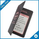 Hangtag stampato matrice per serigrafia con il foro sul tessuto dell'abito